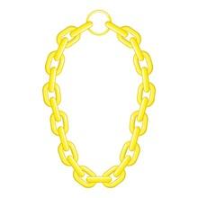 Golden Chain Necklace Icon, Ca...