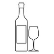 Bottle of wine icon, outline style