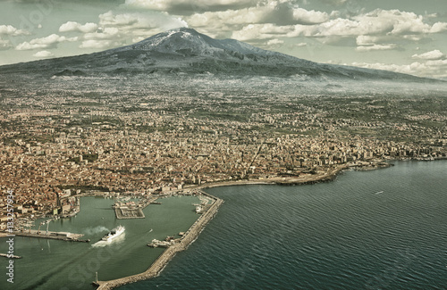 Catania aerial view (HDR) Canvas Print