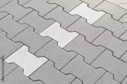 Fotografía Verbundsteinpflaster mit grauen und weißen Betonsteinen, Betonprodukte, Pflaster