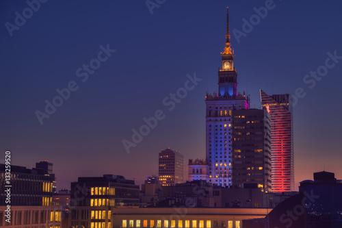 Plakat Warszawa Skyline
