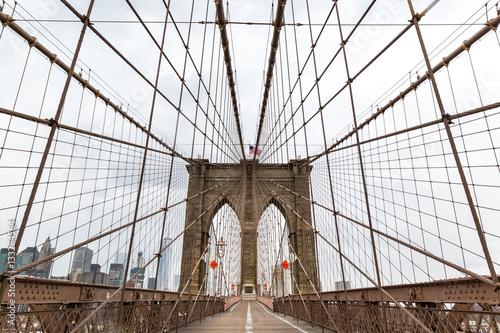 Fototapeta premium Brooklyn Bridge, nikt, Nowy Jork USA