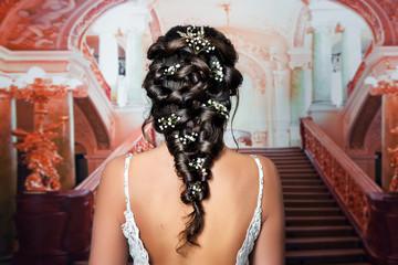 Fototapeta Natürliches romantisches Make-up und Styling für eine Hochzeit