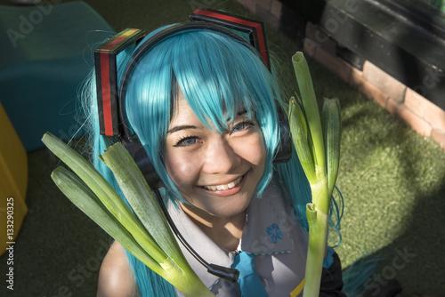 Plakat Japonia anime cosplay, kobiety kreskówki