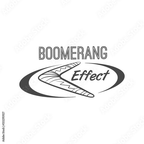 Photo boomerang effect logotype