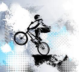 Fototapeta na wymiar Biker, sport illustration, vector