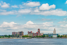 Philadelphia, USA View On City Line And Delaware River