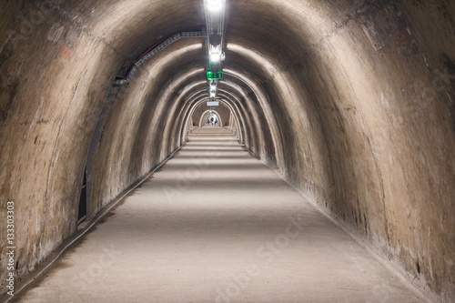 Fototapeten Tunel Old tunnel from WW2 under upper town in the center of Zagreb, Croatia