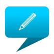 pencil blue bubble icon
