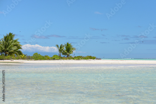 Spoed Foto op Canvas Eiland Paradise little island, motu, in Bora Bora, French Polynesia