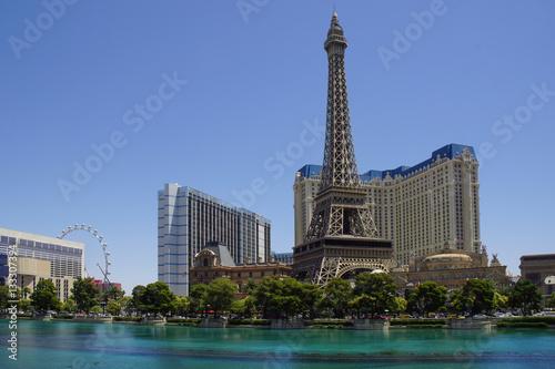Tuinposter Las Vegas Las Vegas Eiffelturm