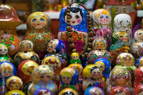 Foto op Canvas Moskou Matrioshka or babushkas dolls