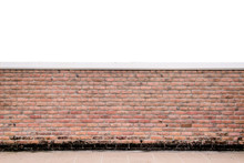 Texture Of Decorative Red Brick Wall Fence Pattern