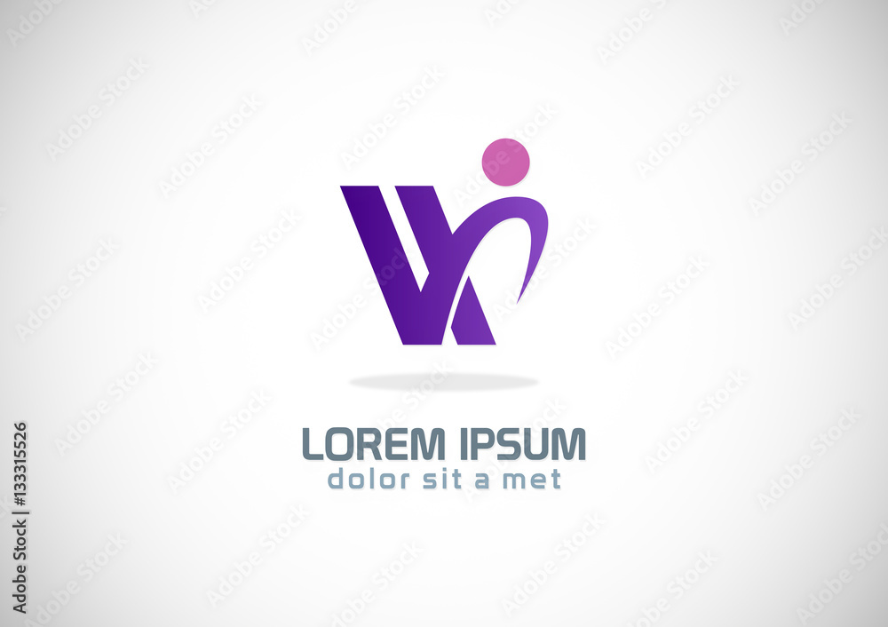 Posters Met Letter : Abstract letter w vector logo foto poster wandbilder bei europosters