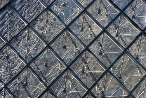Fotografie, Obraz  Abstract of the Louvre Paris