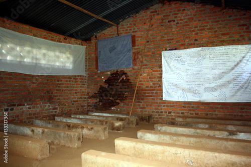 Fotografia  former Ntarama church school, part of Ntarama Genocide Memorial Centre, Kigali P