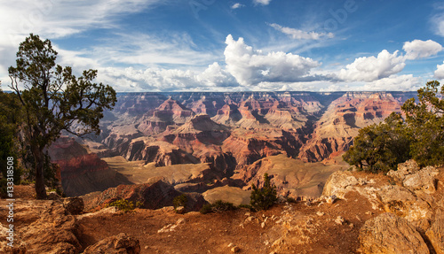 Poster Canyon Scenic view Grand Canyon National Park, Arizona, USA. Panorama landscape sunny day with blue sky