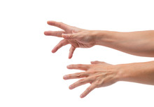 Asian Male Hands Reaching Out