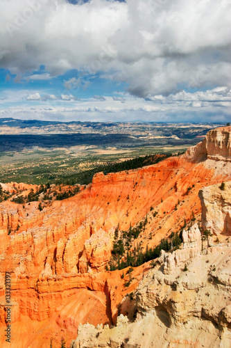 Tuinposter Baksteen View from viewpoint of Bryce Canyon. Utah. USA