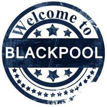 Blackpool Stamp On White Backg...