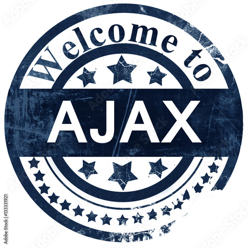 Ajax stamp on white background Canvas Print