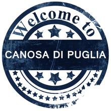 Canosa Di Puglia Stamp On White Background