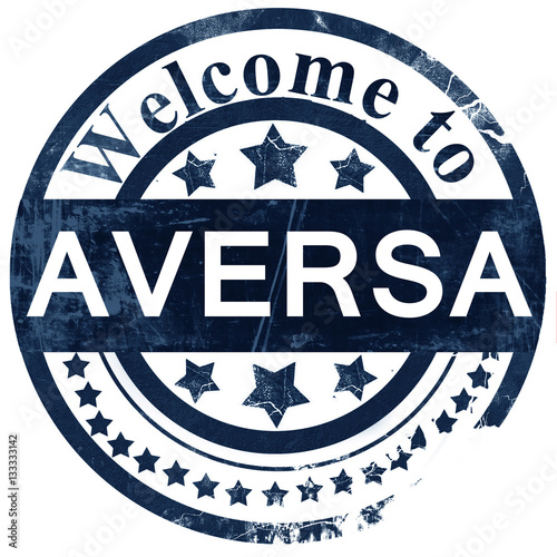 Aversa stamp on white background Canvas Print