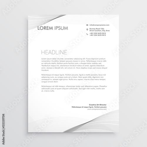 Fototapeta elegant gray letterhead design obraz