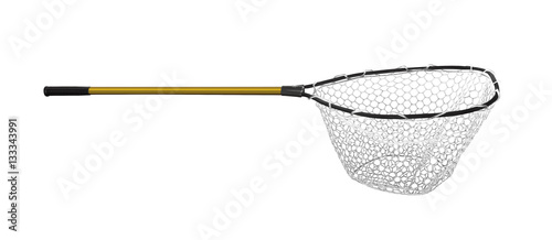 Fishing Landing net isolated on white Fototapeta
