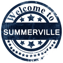 Summerville Stamp On White Bac...