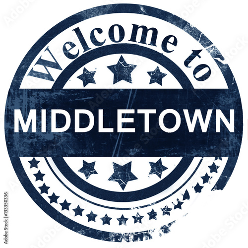 Photo  middletown stamp on white background