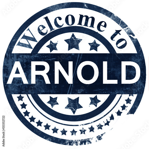 Photo arnold stamp on white background
