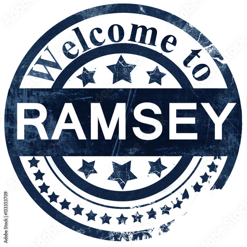 ramsey stamp on white background Canvas Print