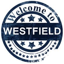 Westfield Stamp On White Background