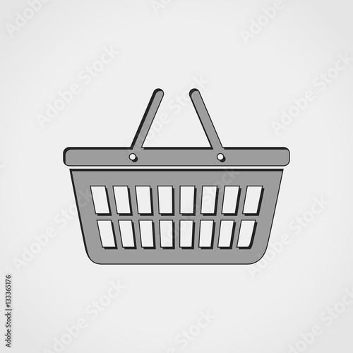 Obraz na plátně  shopping grey icon