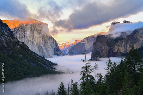 Beautiful view of Yosemite Canvas Print