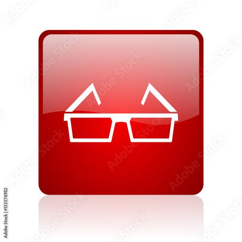 3d glasses blue bubble icon