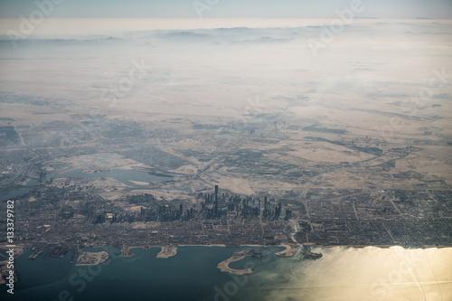 Palm tree Küste von Dubai - Vereinigte Arabische Emirate - Luftbild,
