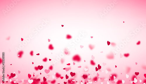 Fotografie, Obraz  Love valentine's background with hearts.