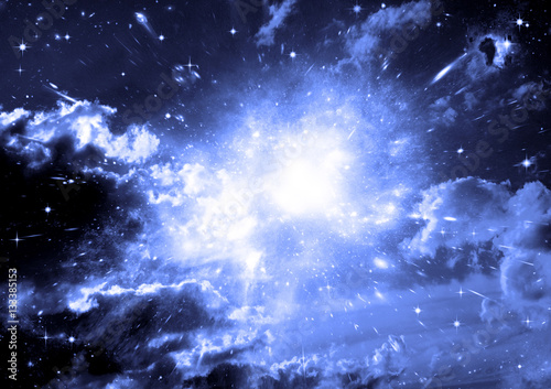 Papiers peints Eau galaxy in a free space
