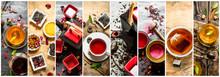 Food Collage Of Tea .