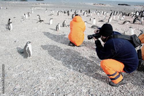 Foto auf Gartenposter Antarktika scientific expedition in antarctica