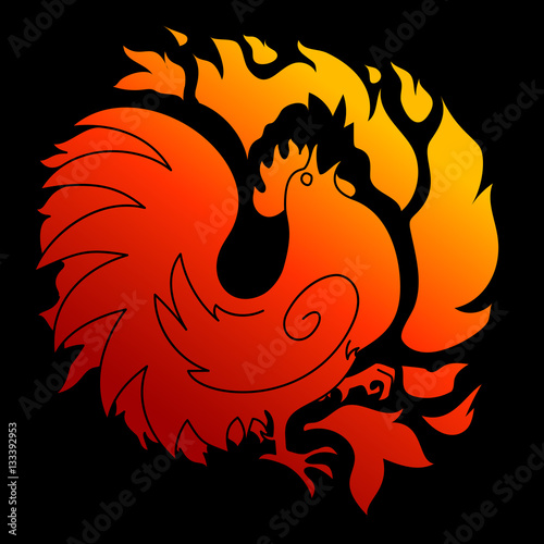 2017 the year of the fire rooster in chinese horoscope red and gold colors