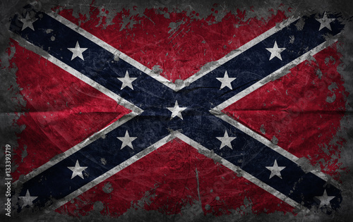 Photo Grunge confederate flag