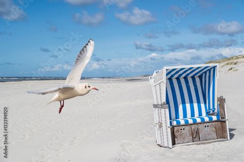 Spoed Foto op Canvas Noordzee ruhiger Tag am Strand
