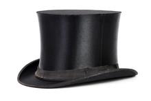 Schwarzer Hut, Zylinder Isolie...