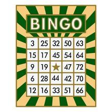 Bingo Card. Green