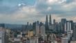 Kuala Lumpur city skyline timelapse, Kuala Lumpur, Malaysia, 4K Time lapse