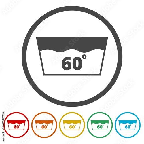 Wash Icon Machine Washable At 60 Degrees Symbol Buy This Stock