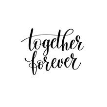 Together Forever Black White H...
